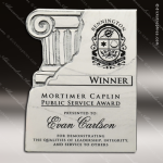 Corporate Stone Chiseled Column Wall Placard Award Stone Marble Finish Plaques