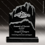 Corporate Stone Black Shasta Peak Placard Award Stone Marble Finish Plaques