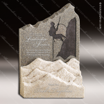 Stone Rainier Moonstone Mountain Trophy Award Stone Marble Finish Plaques