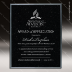 Engraved Stone Plaque Black Marble Wall Placard Award Stone Marble Finish Plaques