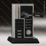 Stone Black Accented Rectangle Perpetual Slate Trophy Award Stone Marble Finish Plaques