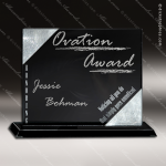 Stone Black Accented Rectangle Orator Trophy Award Stone Marble Finish Plaques