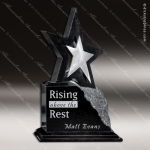 Stone Black Marble Accented Star Estrella Trophy Award Stone Marble Finish Plaques