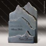 Stone Gray Slate Accented Summit Slate Telluride Trophy Award Stone Marble Finish Plaques