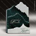 Stone Green Marble Accented Summit Marble Telluride Trophy Award Stone Marble Finish Plaques