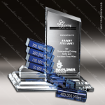 Crystal Blue Accented Summit Goal-Setter Trophy Award Summit Shaped Crystal Awards