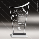 Crystal Black Accented Curved Summit Peak Trophy Award Summit Shaped Crystal Awards