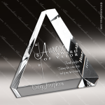 Crystal  Clear Triangle Beveled Paperweight Trophy Award Summit Shaped Crystal Awards
