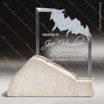 Glass Stone Accented Summit Crest Trophy Award Summit Shaped Glass Awards