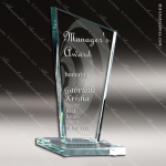 Glass Jade Accented Summit Hydrus Trophy Award Summit Shaped Glass Awards