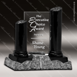 Glass Black Accented Rectangle Summit Athens Trophy Award Summit Shaped Glass Awards