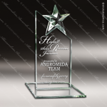 Glass Jade Accented Star Summit Episolon Trophy Award Summit Shaped Glass Awards