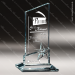 Glass Jade Accented Summit Star Dust Trophy Award Summit Shaped Glass Awards