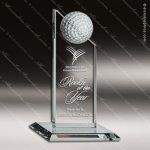 Topez Golf Glass Jade Accented Golf Ball Pinnacle Trophy Award Summit Shaped Glass Awards