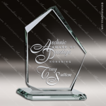 Tonozzi Summit Glass Jade Accented Beveled Edge Base Trophy Award Summit Shaped Glass Awards