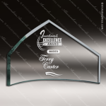 Tonozzi Peak Glass Jade Accented Supreme Beveled Peak Trophy Award Summit Shaped Glass Awards