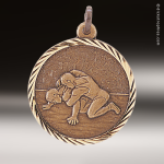 Medallion Sunray Series Wrestling Medal Sunray Medallion Medals