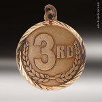 Medallion Sunray Series 3rd Place Medal Sunray Medallion Medals