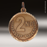 Medallion Sunray Series 2nd Place Medal Sunray Medallion Medals