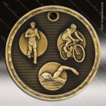 Medallion 3D Series Triathlon Medal Swimming Medals