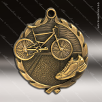 Medallion Wreath Series Triathlon Medal Swimming Medals