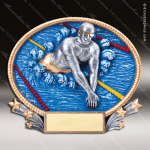 Kids Resin 3D Oval Series Swimming Boys Trophy Awards Swimming Trophy Awards