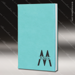 Embossed Etched Leather Journal -Teal Teal Blue Leather Items