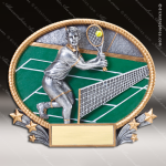 Kids Resin 3D Oval Series Tennis Boys Trophy Awards Tennis Trophy Awards
