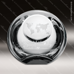 Crystal  Clear Globe Dome Paperweight Trophy Award Topmost Prism Crystal Trophy Awards