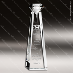 Crystal  Clear Diamond Goddess Trophy Award Topmost Prism Crystal Trophy Awards
