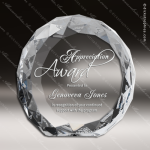 Crystal  Clear Gem-Cut Circle Trophy Award Topmost Prism Crystal Trophy Awards