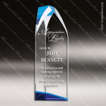 Crystal Blue Accented Virtue Tower Trophy Award Topmost Prism Crystal Trophy Awards