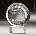 Crystal  Clear Circle Gen Cut Victory Trophy Award Topmost Prism Crystal Trophy Awards