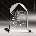 Crystal  Clear Distinguished Trio Arch Trophy Award Topmost Prism Crystal Trophy Awards
