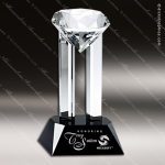 Crystal Black Accented Venus Diamond Trophy Award Topmost Prism Crystal Trophy Awards