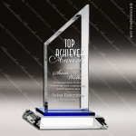 Crystal Blue Accented Summit Sail Trophy Award Topmost Prism Crystal Trophy Awards