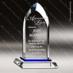 Crystal Blue Accented Summit Dignity Trophy Award Topmost Prism Crystal Trophy Awards