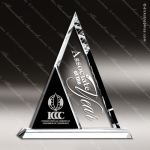 Crystal Black Accented Triangle Duet Trophy Award Topmost Prism Crystal Trophy Awards