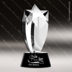 Crystal Black Accented Rising Star Trophy Award Topmost Prism Crystal Trophy Awards