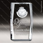 Crystal Clock Beveled Plaque Trophy Award Topmost Prism Crystal Trophy Awards