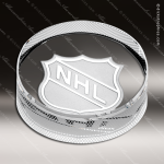 Crystal  Clear Hockey Puck Paperweight Trophy Award Topmost Prism Crystal Trophy Awards