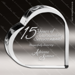Crystal  Clear Heart Keepsake Paperweight Trophy Award Topmost Prism Crystal Trophy Awards