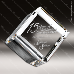 Crystal  Clear Diamond Beveled Cube Paperweight Trophy Award Topmost Prism Crystal Trophy Awards