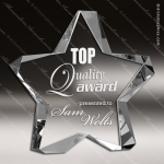 Crystal  Clear Twinkle Star Trophy Award Topmost Prism Crystal Trophy Awards