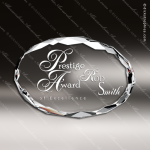 Crystal  Clear Oval Paperweight Trophy Award Topmost Prism Crystal Trophy Awards