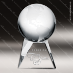Crystal  Clear World Globe Trophy Award Topmost Prism Crystal Trophy Awards