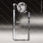Crystal  Clear World Globe Pinnacle Trophy Award Topmost Prism Crystal Trophy Awards