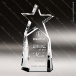 Crystal  Clear Triumphant Star Trophy Award Topmost Prism Crystal Trophy Awards