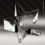 Crystal  Clear Slanted Star Paperweight Trophy Award Topmost Prism Crystal Trophy Awards