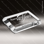 Crystal  Clear Rectangle Beveled Paperweight Trophy Award Topmost Prism Crystal Trophy Awards